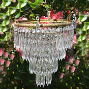 Mid 20th Century 4 tier icicle drop chandelier