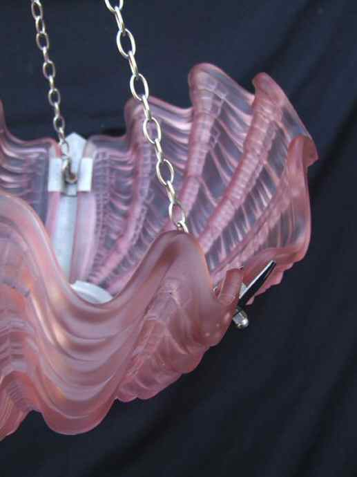 Stunning Pink Art Deco Shell Shape Ceiling Light
