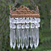 autiful Small 2 Tier Square Icicle drop Chandelier