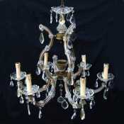 Circa 1930 6 Arm Marie Therese Chandelier