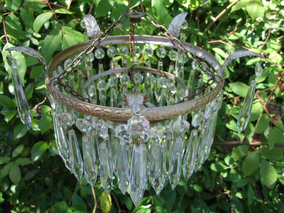 utiful Compact Edwardian 3Tier Icicle Drop Chandelier