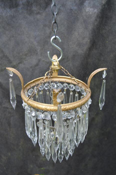 Small Edwardian 2Tier Icicle Drop Chandelier