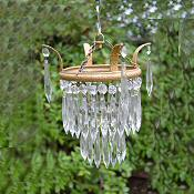 Small Edwardia 2 tier icicle drop chandelier