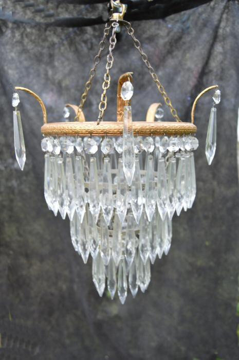 Edwardian 3 Tier Icicle Drop Chandelier