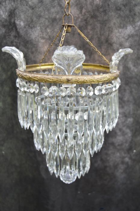 20th Century 3 Tier Icicle Drop Chandelier