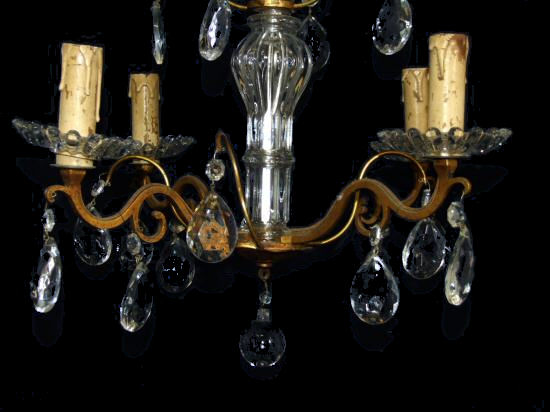 French louis XV style 4 arm chandelier