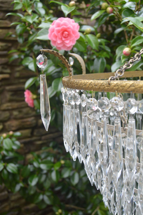 Edwardian 5 Tier Icicle Chandelier