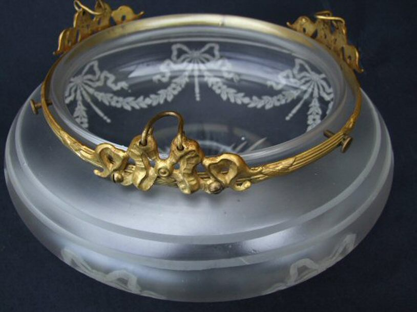 Edwardian Opaque Etched Ceiling Light