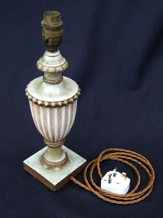 Mid 20th Century Decorative Plaster Urn Table Lamp