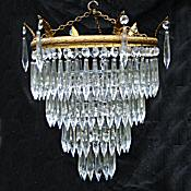 A Large Edwardian 4 Tier Icicle Drop Chandelier