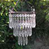 A Beautiful Edwardian compact 3 Tier Icicle Drop Chandelier
