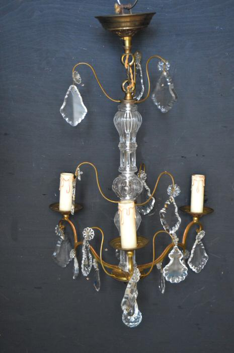French Louis XV Style Three Arm Chandelier