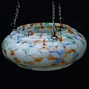 Art Deco Mottled Ceiling Light