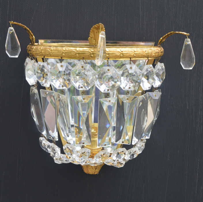 Circa 1930 Purse Wall Lights with accanthus leaf decoration