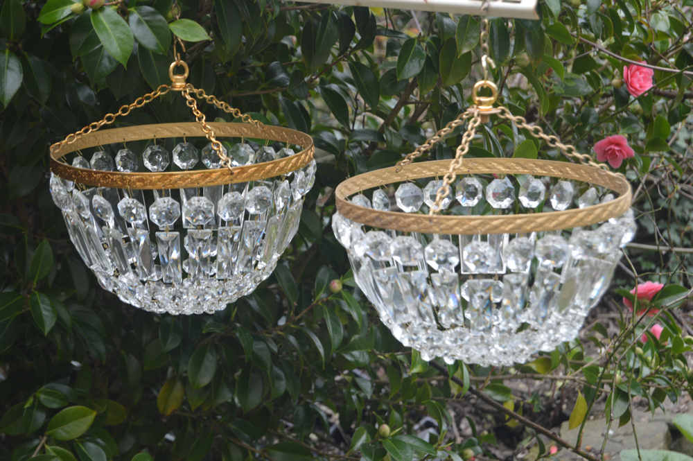 ir of Mid 20th Century Purse/Bag Chandeliers