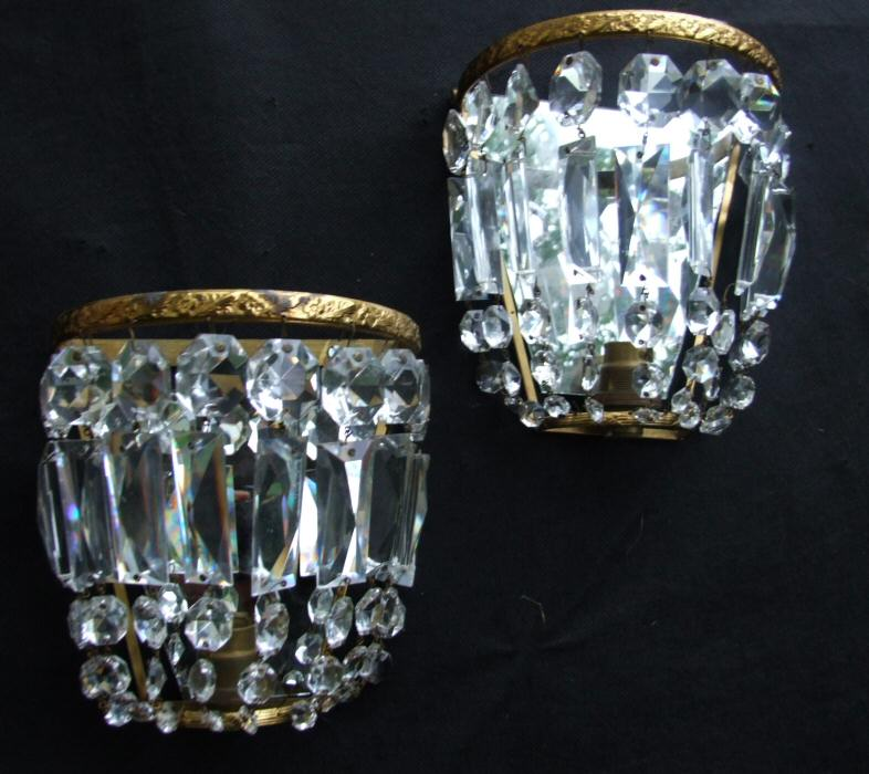 Early 20th Century Purse Wall Lights