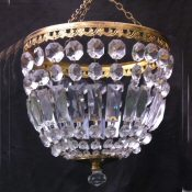 Large mid 20th Century purse chandelier