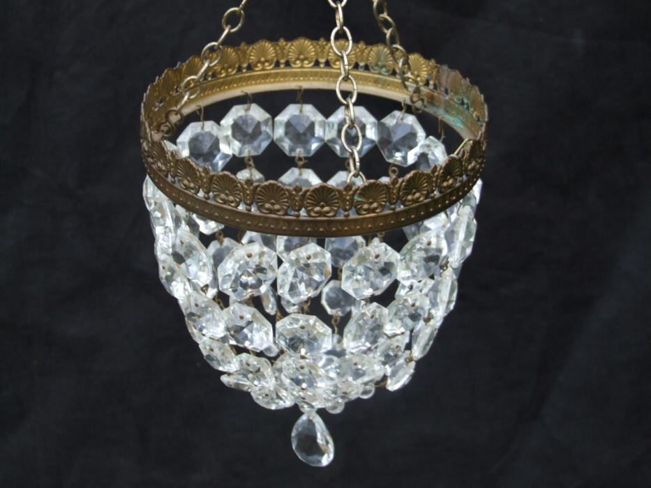 Small Mid 20th Century Purse Chandelier