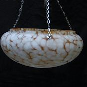 Mottled White and Caramel Deco Ceiling Shade
