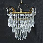 An Edwardian 3 Tier Icicle Drop Chandelier