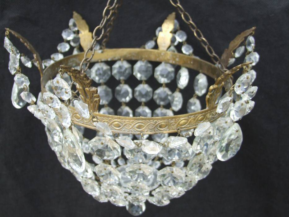 Beautiful Edwardian Bag Chandelier