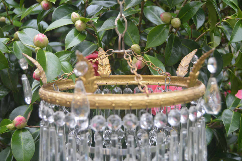 Edwardian 3 Tier Icicle Chandelier