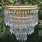 Mid 20th Century 3 tier icicle drop chandelier