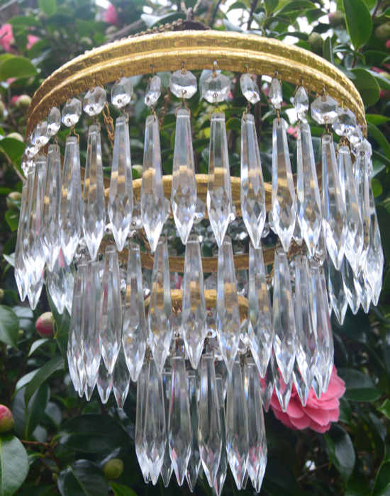Mid 20th Century 3 Tier Icicle Chandelier