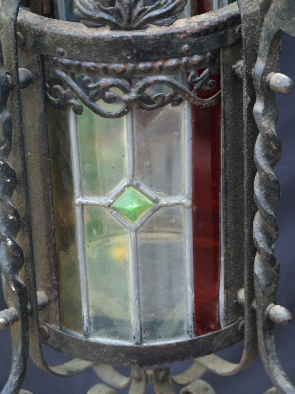 Late Victorian Cylindrical Wrought Iron Lantern