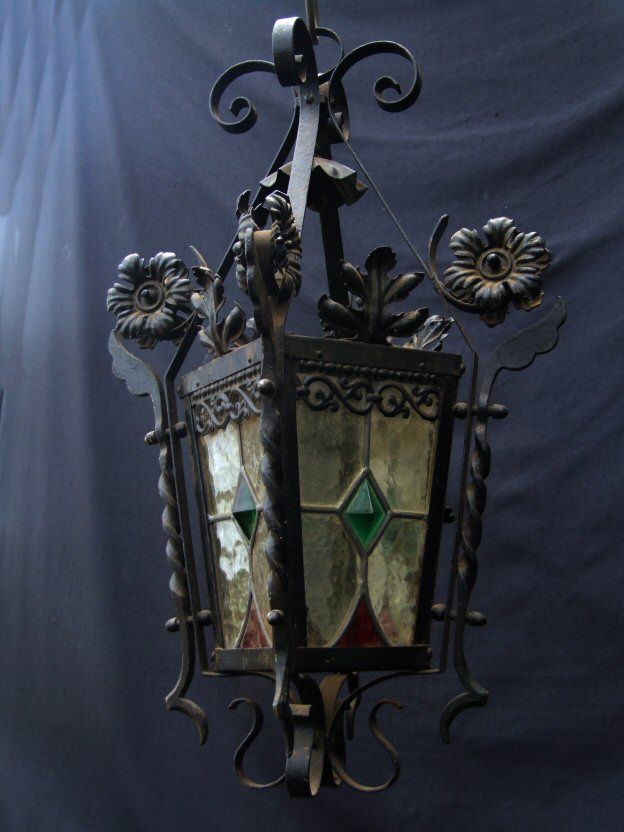 Victorian Wrought Iron Lantern