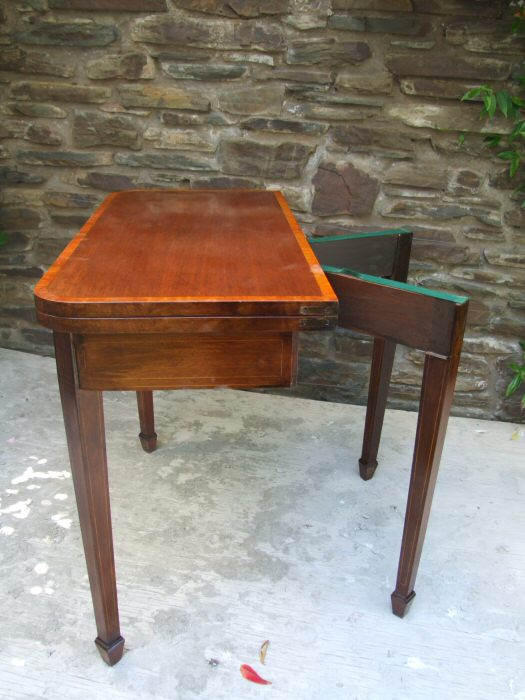 Pair of Early 20th Century Mahogany Inlaid Card Tables