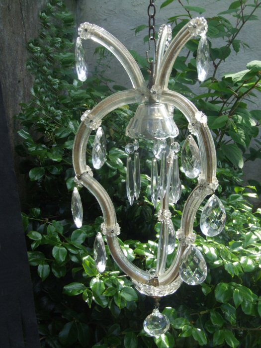 Antique Marie Therese single bulb chandelier