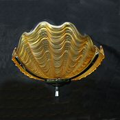 Stunning Amber Art Deco Shell Ceiling Light