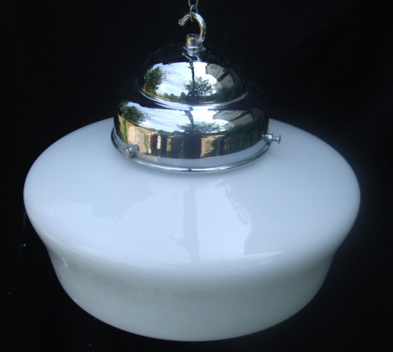 Circa 1920 Art Deco White Ceiling light