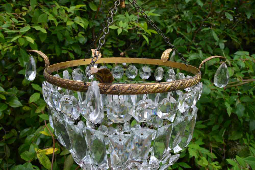 Large Edwardian Purse Chandelier