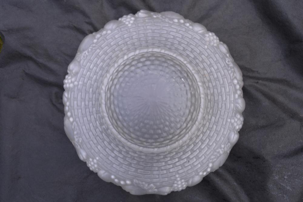 Opaque Embossed Lalique style Art Deco Shade