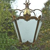 Mid 20th Century 5 sided Brass Hall Lantern