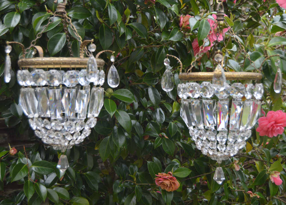 pair of mid 20th Century purse chandeliers