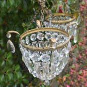 Pair of matching purse chandeliers