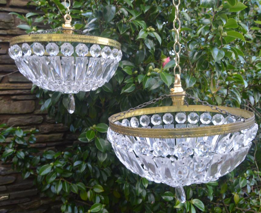 Pair of Mid 20th Century Purse/Bag Chandeliers