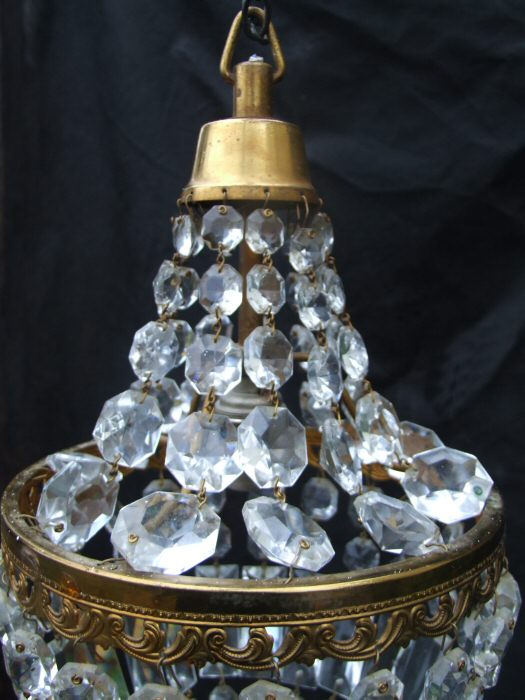Mid 20th Century Empire Style Chandelier