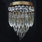 Small 3 Tier Edwardian Icicle Drop Chandelier
