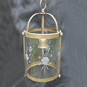 Mid 20th Century Brass Cylindrical Lantern
