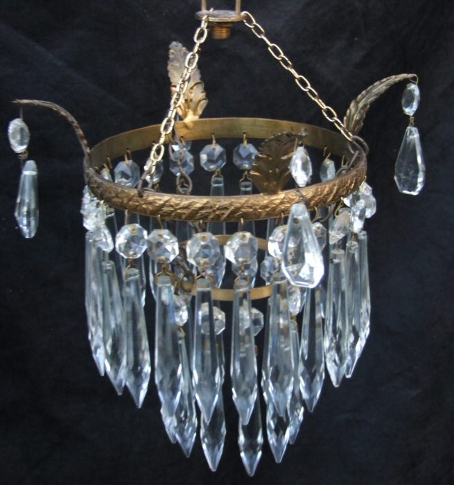 Edwardian 2 Tier Icicle Chandelier