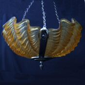 Deco Amber Shell Ceiling Light