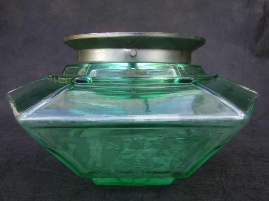Unusual Green Deco Ceiling Light
