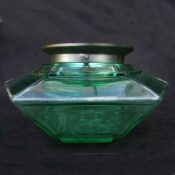 Unusual Green Art Deco Ceiling Light