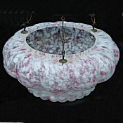 Art Deco Large Petal Shaped Mottled Pink Ceiling Light