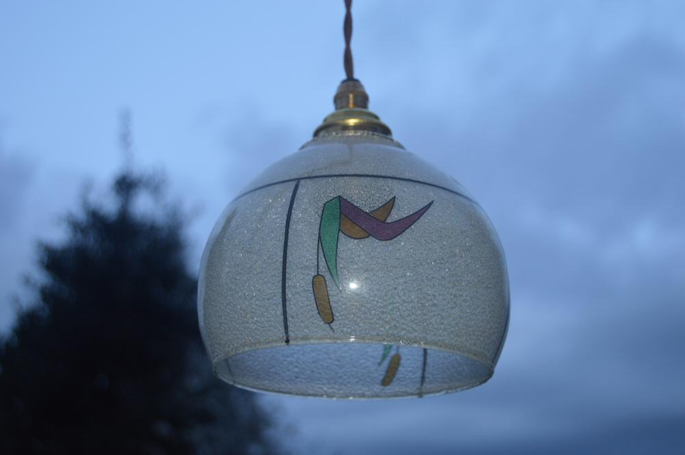 Petite Art Deco Ceiling Light