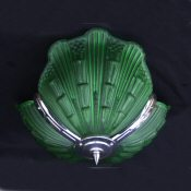 Stunning Emerald Green Art Deco Ceiling Light